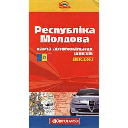Kartografia Moldavsko 1:300 000 automapa