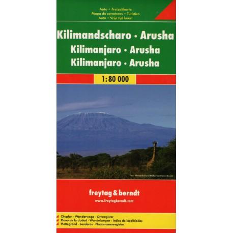 Freytag a Berndt Kilimandžáro, Aruša 1:80 000 automapa/turistická mapa