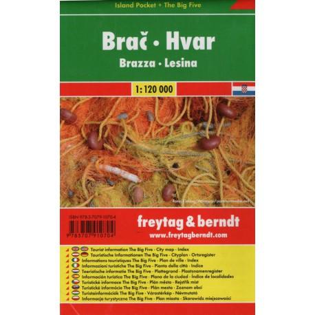 Freytag a Berndt Brač, Hvar 1:120 000 automapa