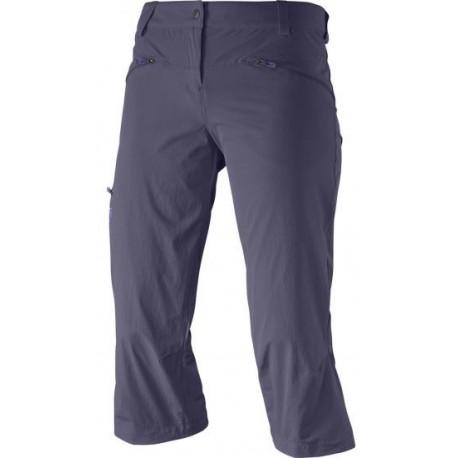 Salomon Wayfarer Capri W nightshade grey 371081 dámské lehké softshel. tříčtvrteč. kalhoty