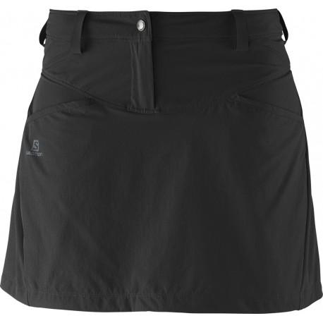 Salomon Wayfarer Skirt W black 371575 dámská lehká softshellová sukně