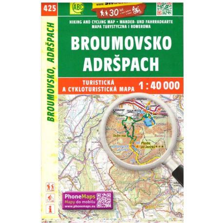 SHOCart 425 Broumovsko, Adršpach 1:40 000 turistická mapa