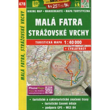 SHOCart 478 Malá Fatra, Strážovské vrchy 1:40 000 turistická mapa