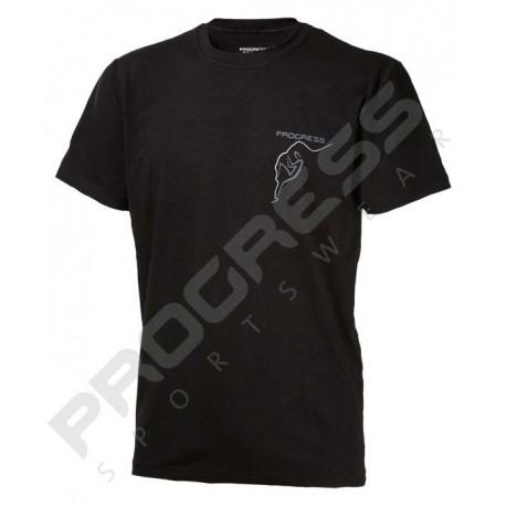 Progress Barbar černá pánské triko krátký rukáv bambus