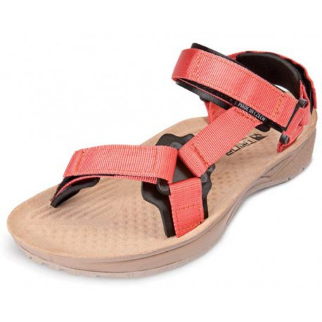 Triop Terra Shine lososová/hnědá dámské sandály
