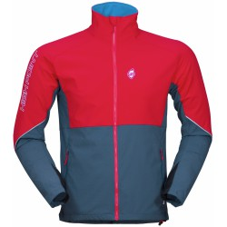 High Point Gale Jacket red/blue shadow pánská softshellová bunda (1)