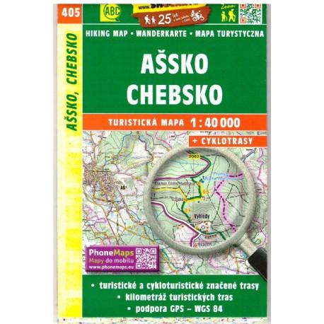 SHOCart 405 Ašsko, Chebsko 1:40 000 turistická mapa