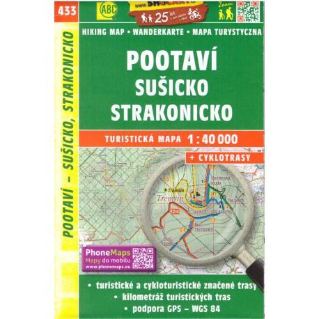 SHOCart 433 Pootaví, Sušicko, Strakonicko 1:40 000 turistická mapa