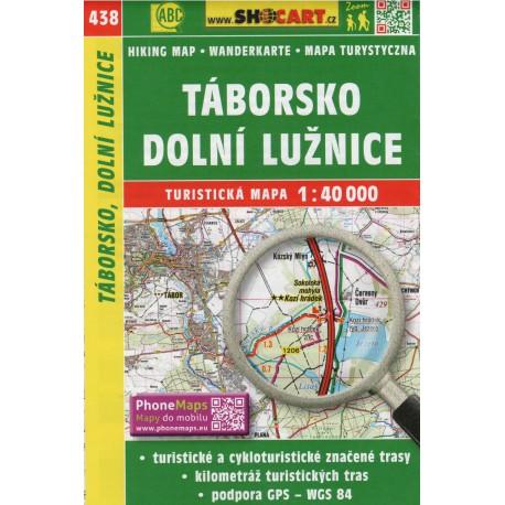 SHOCart 438 Táborsko, Dolní Lužnice 1:40 000 turistická mapa