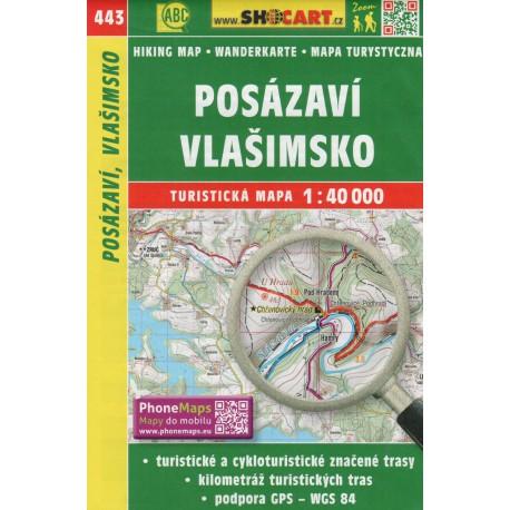 SHOCart 443 Posázaví, Vlašimsko 1:40 000 turistická mapa