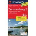 Kompass 7004 Donauradweg/Dunajská cyklostezka 2 Passau-Bratislava 1:50 000 cyklomapa