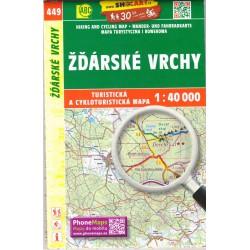 SHOCart 449 Žďárské vrchy 1:40 000