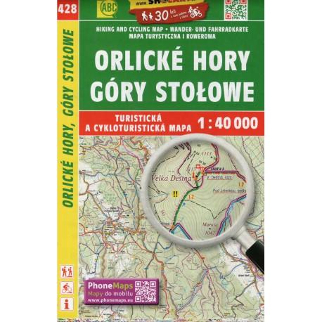SHOCart 428 Orlické hory, Góry Stolowe 1:40 000 turistická mapa
