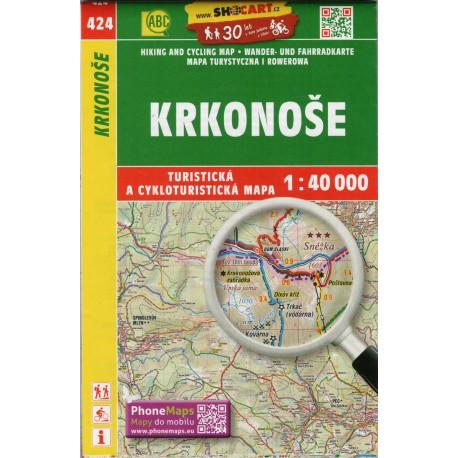 SHOCart 424 Krkonoše 1:40 000 turistická mapa