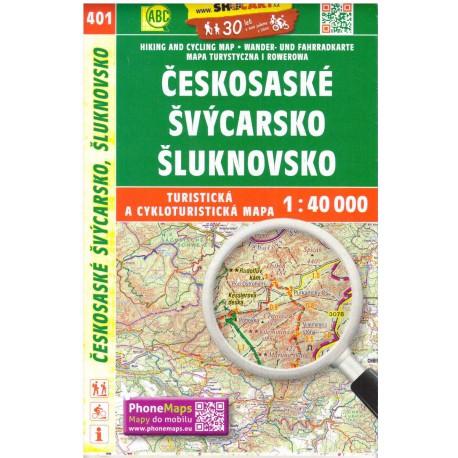 SHOCart 401 Českosaské Švýcarsko, Šluknovsko 1:40 000 turistická mapa