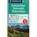 Kompass 672 Dolomiten/Dolomity 1:35 000 turistická mapa