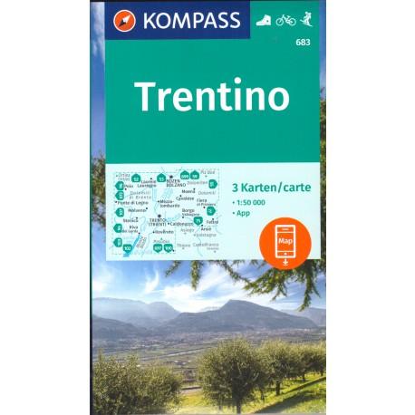 Kompass 683 Trentino soubor 3 map 1:50 000