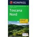 Kompass 2439 Toscana Nord 1:50 000 sada 3 turistických map
