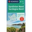 Kompass 2497 Sardegna Nord/Sardinie sever 1:50 000 turistická mapa