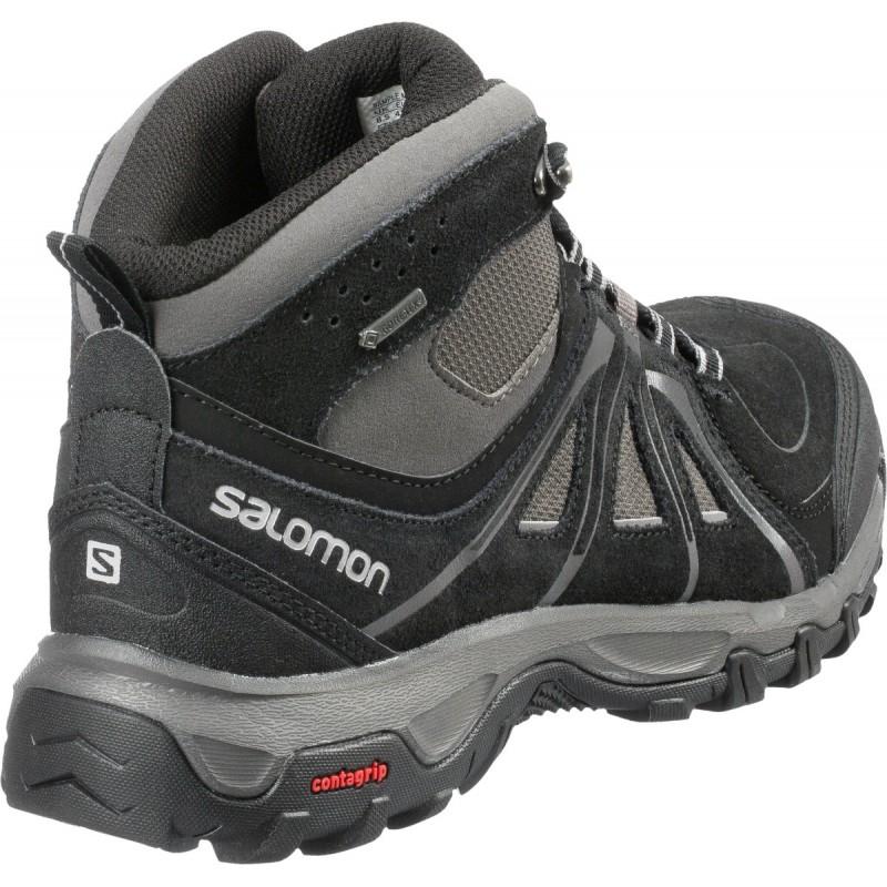 ... Salomon Evasion Mid GTX black autobahn pewter 376909 pánské trekové  nepromokavé boty 1 ... 242ad5492f3