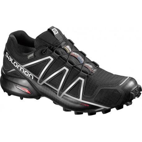 Salomon Speedcross 4 GTX black/silver metallic-x 383181 pánské nepromokavé běžecké boty