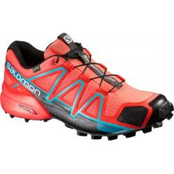 Salomon Speedcross 4 GTX W coral punch/black 391836 dámské nepromokavé běžecké boty