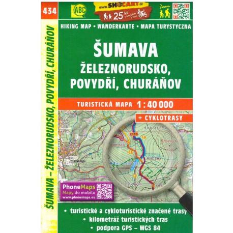SHOCart 435 Šumava, Železnorudsko, Povydří, Churáňov 1:40 000 turistická mapa