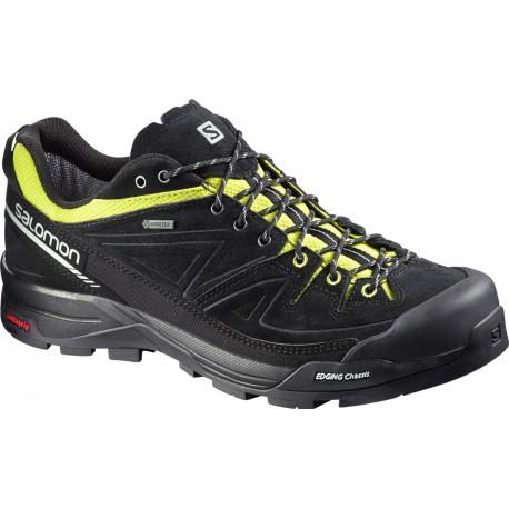 Salomon X Alp LTR GTX black/gecko green/aluminium 379266 pánské kožené nepromokavé boty