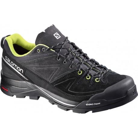 Salomon X Alp LTR asphalt/black/gecko green 379255 pánské kožené boty