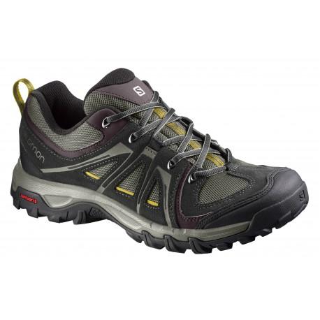 Salomon Evasion Aero dark titanium/black/purple black pánské nízké prodyšné boty