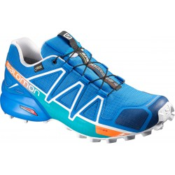 Salomon Speedcross 4 GTX bright blue/white 390722 pánské nepromokavé běžecké boty