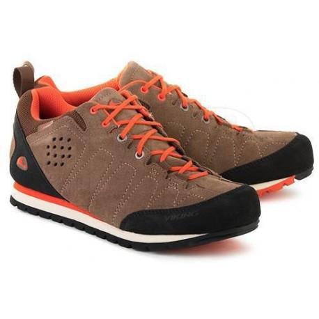 Viking Lykkja GTX grey/lime pánské nízké nepromokavé kožené boty