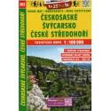 SHOCart 202 Českosaské Švýcarsko, České středohoří 1:100 000 turistická mapa