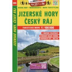 SHOCart 203 Jizerské hory, Český ráj 1:100 000