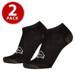 Zajo Active Socks Low 2 Pack černá sportovní  ponožky Coolmax