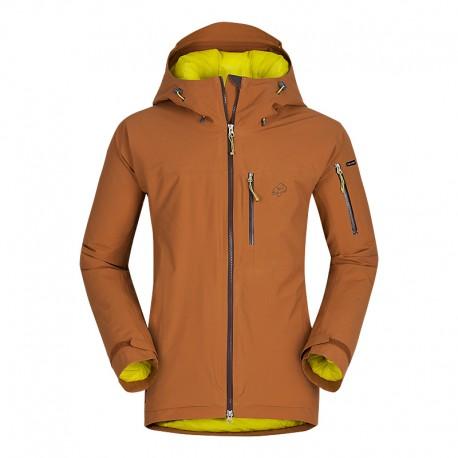 Zajo Nuuk JKT tobacco pánská nepromokavá zimní lyžařská bunda Sympatex/Primaloft