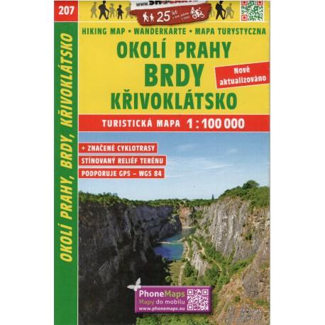 SHOCart 207 Okolí Prahy, Brdy, Křivoklátsko 1:100 000