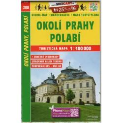 SHOCart 208 Okolí Prahy, Polabí 1:100 000 turistická mapa