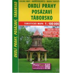 SHOCart 209 Okolí Prahy, Posázaví, Táborsko 1:100 000 turistická mapa