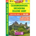 SHOCart 210 Českomoravská vrchovina, Železné hory 1:100 000 turistická mapa