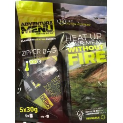 Adventure Menu Samoohřev All in (3 x 20 g + 2 x 50 g + Zipper Bag) sada pro ohřev jídla