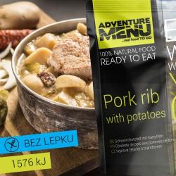 Adventure Menu Vepřové žebírko s bramborem 1 porce 400g sterilované jídlo na cesty