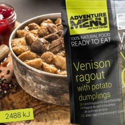Adventure Menu Jelení ragú s bramborovými špalíčky 1 porce 400g sterilované jídlo na cesty