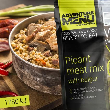 Adventure Menu Pikantní kotlík s bulgurem 1 porce 400g sterilované jídlo na cesty