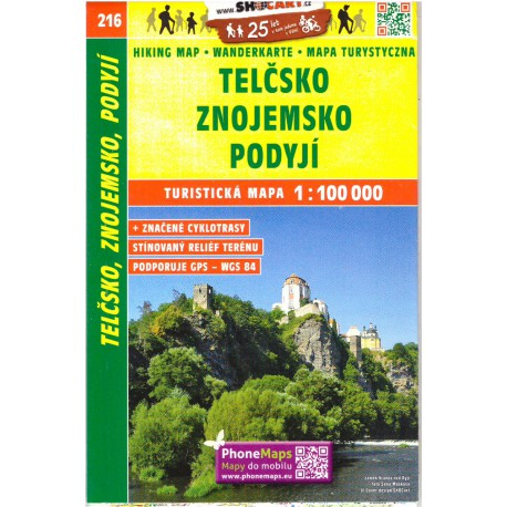 SHOCart 216 Telčsko, Znojemsko, Podyjí 1:100 000