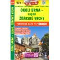 SHOCart 217 Okolí Brna západ, Žďárské vrchy 1:100 000 turistická mapa