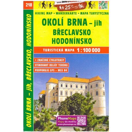 SHOCart 218 Okolí Brna - jih, Břeclavsko, Hodonínsko 1:100 000