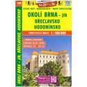 SHOCart 218 Okolí Brna - jih, Břeclavsko, Hodonínsko 1:100 000 turistická mapa
