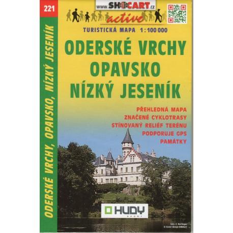 SHOCart 221 Opavsko, Oderské vrchy, Nízký Jeseník 1:100 000