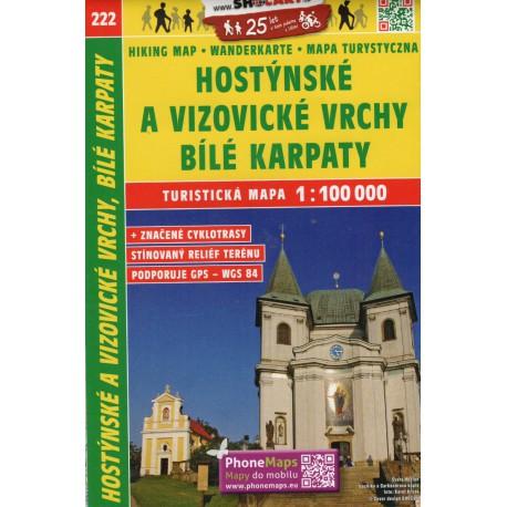 SHOCart 222 Hostýnské vrchy, Bílé Karpaty 1:100 000